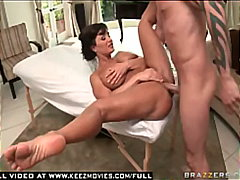 Hot milf lisa ann gets her big ass oiled up and fucked
