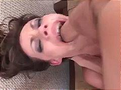 Avsugning, Suge Brunette Cumshot Deepthroat Ansikt