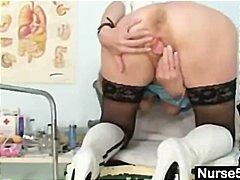 Blond Dildo Fetisj Oma Kinky