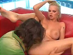 Busty blonde with a nice ass gets it pounded hard by big cock