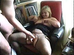 Amatør Stor Vakker Kvinne Tispe Blond Avsugning, Suge