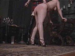 Butt spanking punished