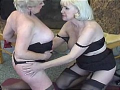 Two mature ladies lovin each other