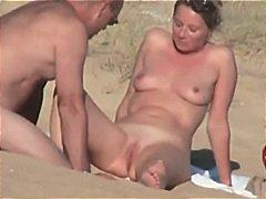 海滩 情侣 法国妞 隐蔽拍摄 全裸性交