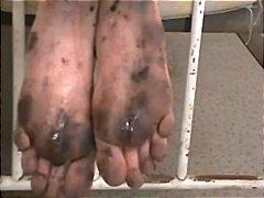 Footjob dirty soles