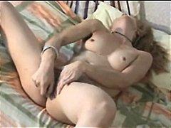 Blondid Masturbeerimine Soolo Mänguasi