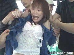 Asiatisk Avsugning, Suge Gruppesex Japansk Utendørs