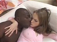 Blonde alice gets herself a black cock to suck on and get fucked by
