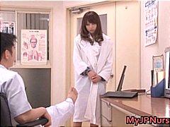 Азиски Фетиш Влакнест Јапонско Медицинска сестра