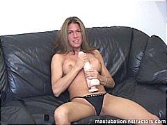 Dildo Sexy Moeder Leraar Masturbatie Strippen