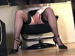 פטיש ביגוד תחתון מזכירות מגולחות ווייר