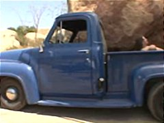 Rachel roxxx lets a redneck dude fuck her in the back of his truck