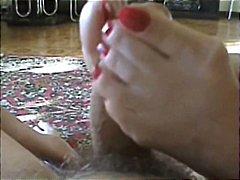 חובבניות פטיש כפות רגליים גרבונים