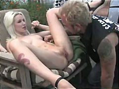 Cewek Seksi Rambut Pirang Hardcore Sekolah Cukur Jembut