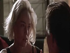 Sexy blonde celebrity sharon stone gets naked in the movie sliver
