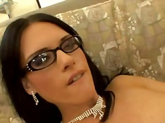 Lovely jennifer dark with glasses