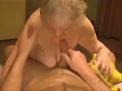 Facial on a very old granny. amateur