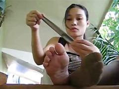 אסיאתיות פטיש כפות רגליים גרבונים
