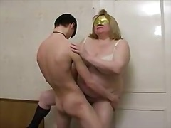 Shy busty granny with young male by snahbrandy