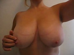 Amater real big boobs home vide1