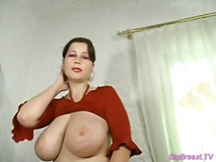 Big breasts babe dildoing her pussy for wet orgasm