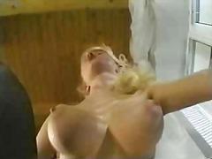 Anal Blond Ansiktsprut Tjeckiska Avrunkning