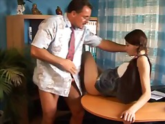 Teen student in pigtails fucked by teacher