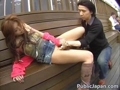 Aziatisch Pijpen Interraciaal Japans Buiten