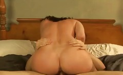 Banging the gorgeous big tits milf in stockings