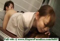 Mei miura mature japanese babe on the couch gets her tits licked