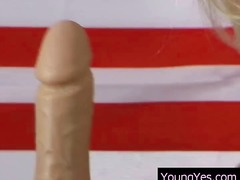 Babe Blond Dildo Masturbationen Solo