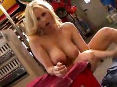Mechanic fucks pornstar julia ann and cums