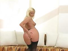 Blondínky Pošvy Dráždenie Pančušky Striptíz