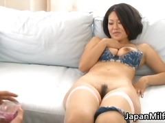 Ayaka asian milf spreads her legs part6