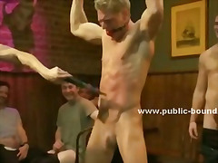 Old gay pub with long time clients sometimes is used to fuck men who love to be slaves