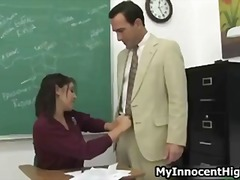 Teen schoolgirl sucking the teachers big part1