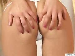 Blondid Tudengid Masturbeerimine Orgasm Hõõrumine