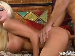 Huge busted blonde pornstar nikita von james fucked and facialized