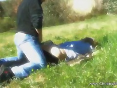 Doggy fucked on the grass