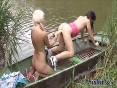 Blondid Brünetid Lesbi Masturbeerimine Oraal
