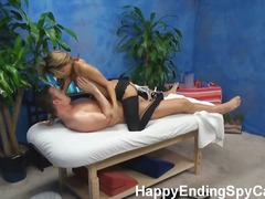 Veronica is caught on our hidden spy cam fucking her massage patient!
