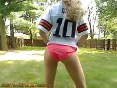 Sexy football fan hannah