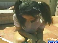 Bebek Bakıcısı Oral Seks Esmer Sonuna Kadar Ağza Alma Elle Muamele