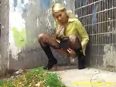 Vruće Žene Plavuša Fetiš Vani Najlon