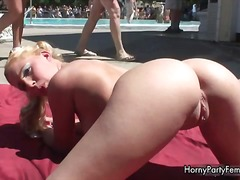 Horny blonde stripper girl showing part6
