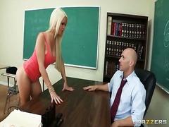 Blond Avsugning, Suge Skole Lærer Lesbisk