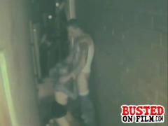 Alley fucking spy cam