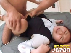 Pleasing japanese harlot satoko getting petite cooshie nailed hard