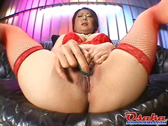 Ayano takes the huge load of orgasm well on her face!