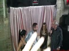 Exhib En Public Mouillées Lesbiennes Groupe